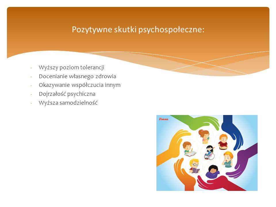 Pozytywne skutki psychospołeczne: