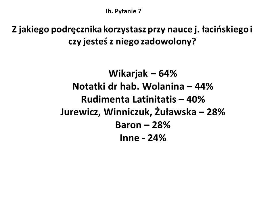Notatki dr hab. Wolanina – 44% Rudimenta Latinitatis – 40%