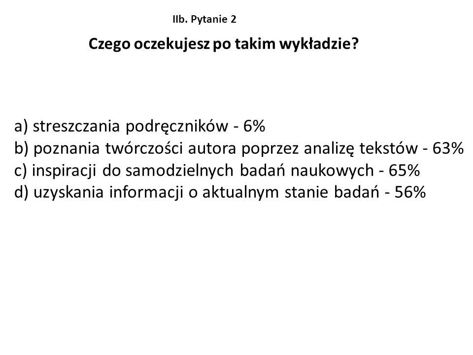a) streszczania podręczników - 6%