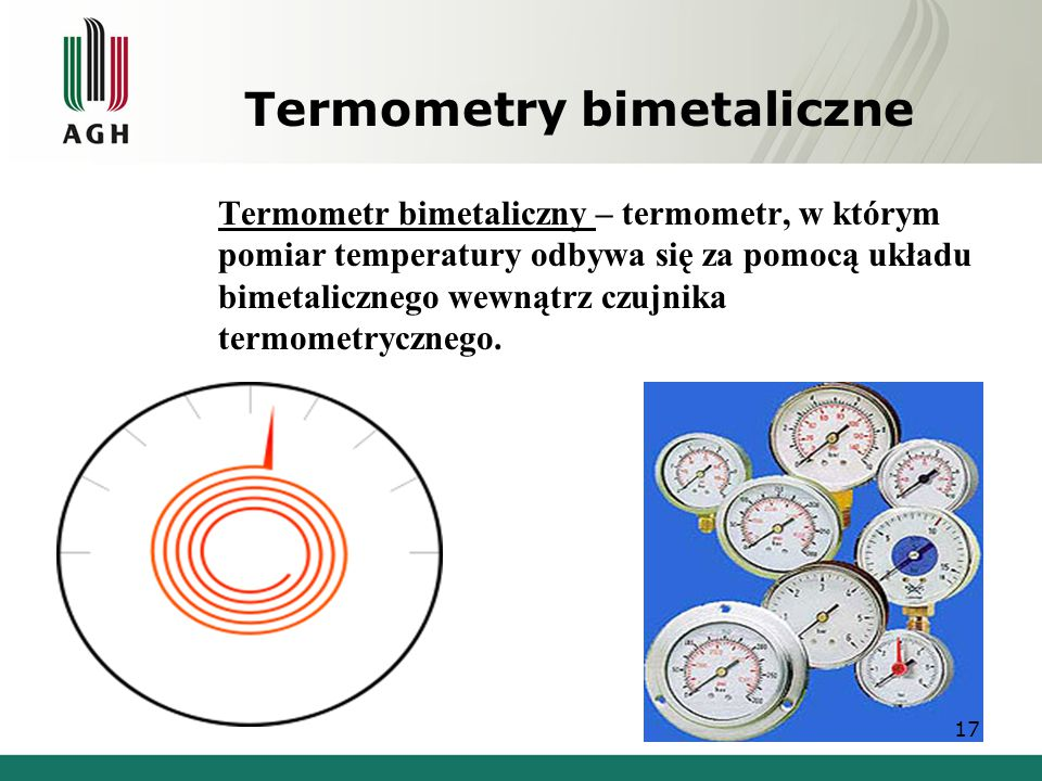 Termometry bimetaliczne