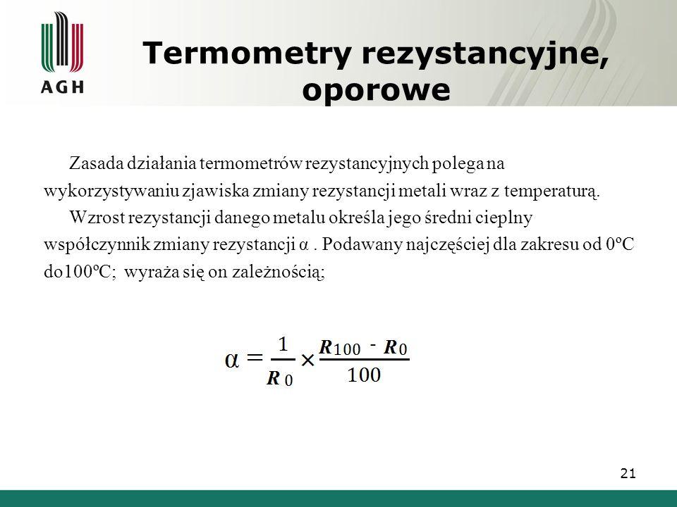 Termometry rezystancyjne, oporowe