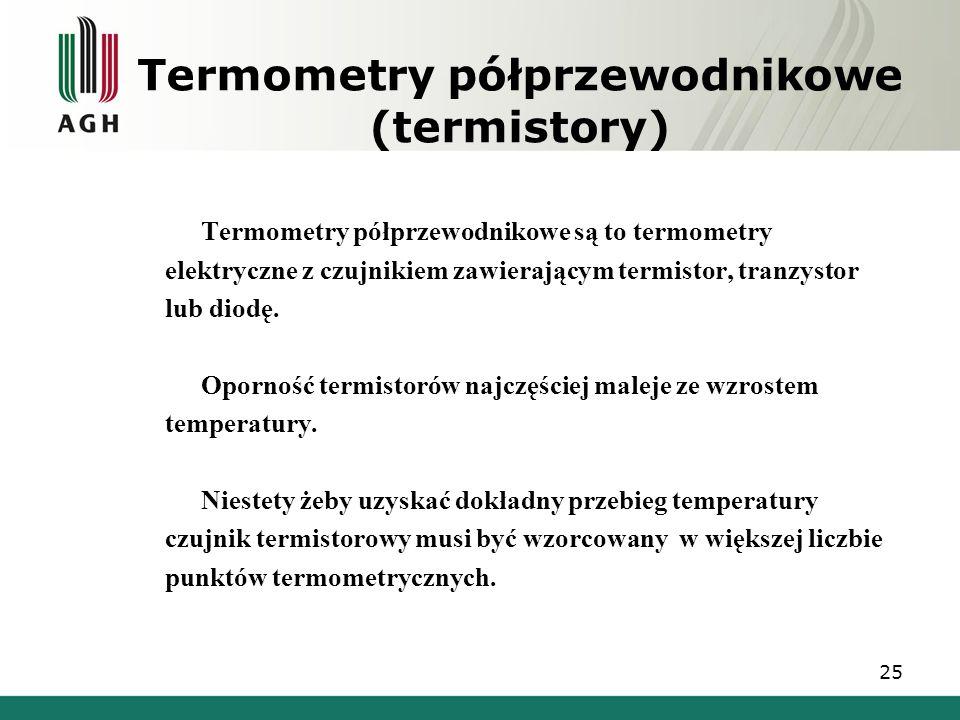 Termometry półprzewodnikowe (termistory)