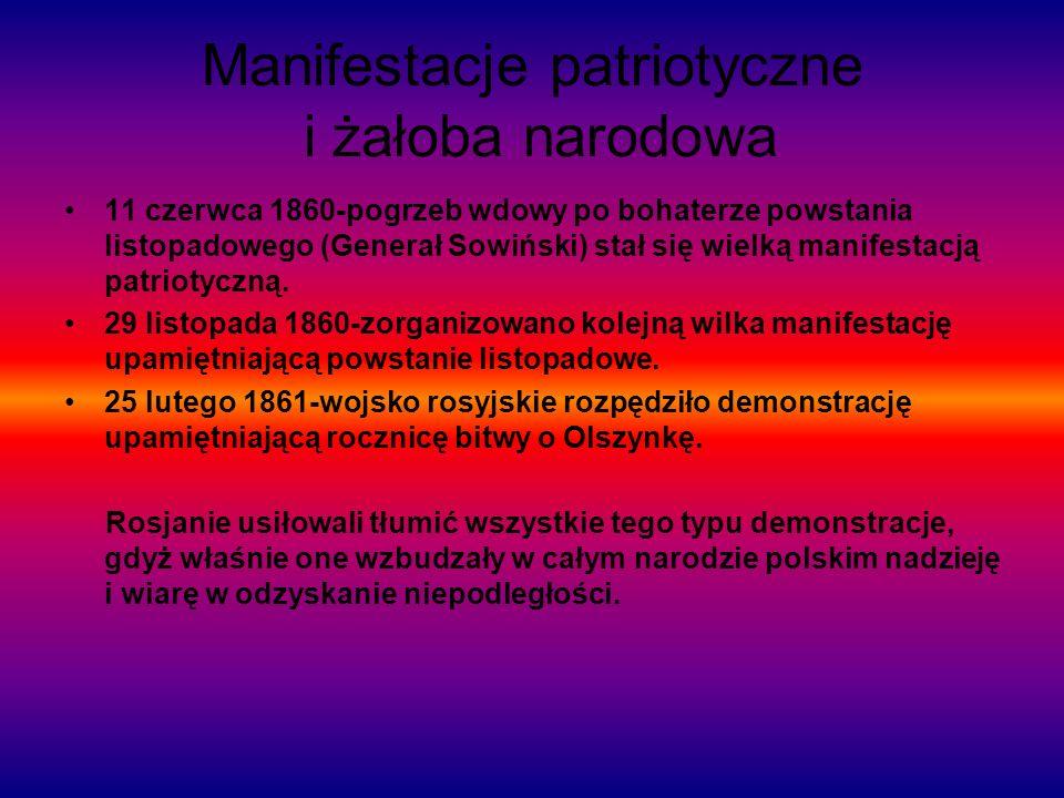 Manifestacje patriotyczne i żałoba narodowa