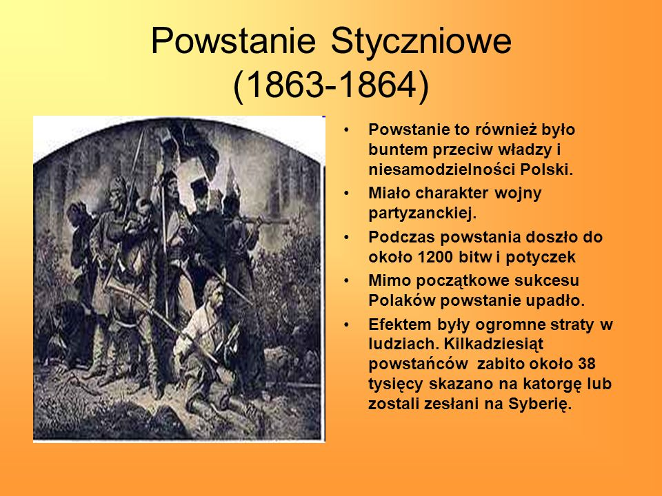 Powstanie Styczniowe (1863-1864)
