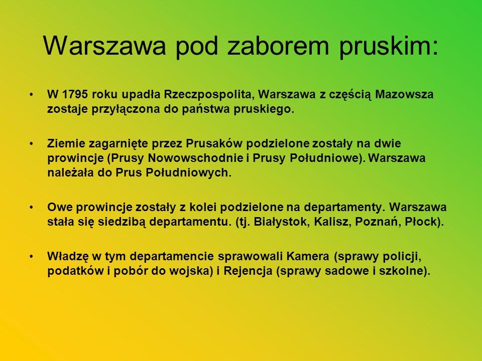 Warszawa pod zaborem pruskim: