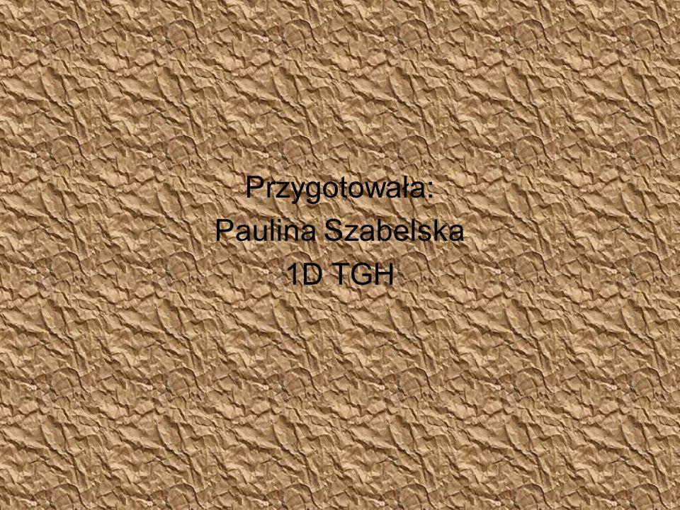 Przygotowała: Paulina Szabelska 1D TGH