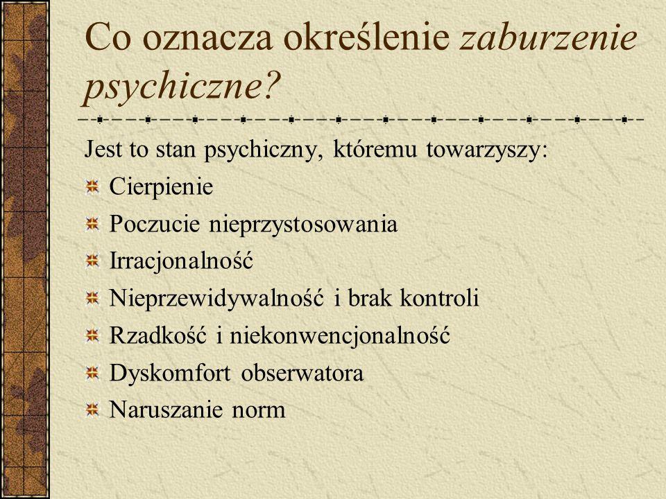 Co oznacza określenie zaburzenie psychiczne