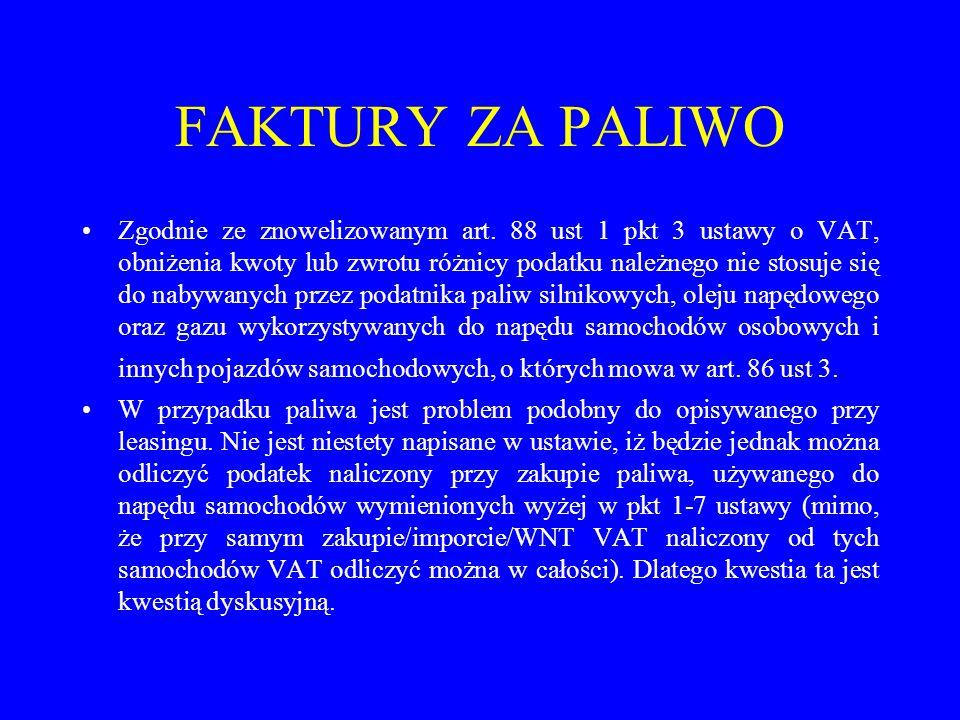 FAKTURY ZA PALIWO