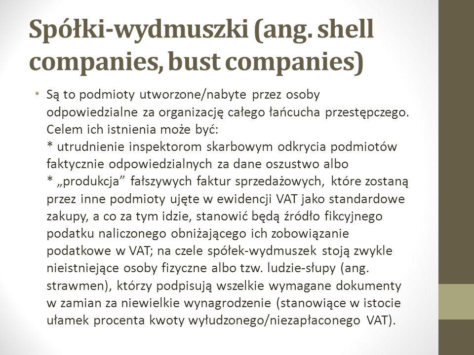 Spółki-wydmuszki (ang. shell companies, bust companies)