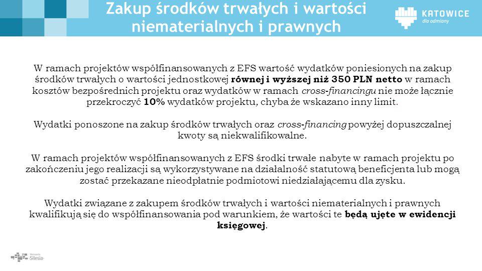 Zakup środków trwałych i wartości niematerialnych i prawnych