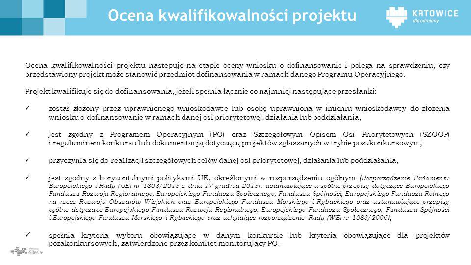 Ocena kwalifikowalności projektu
