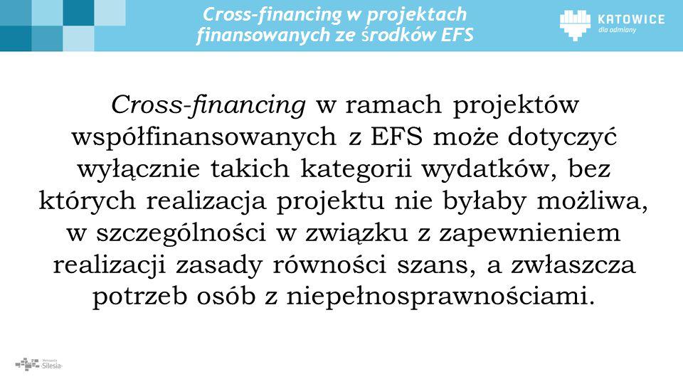 Cross-financing w projektach finansowanych ze środków EFS