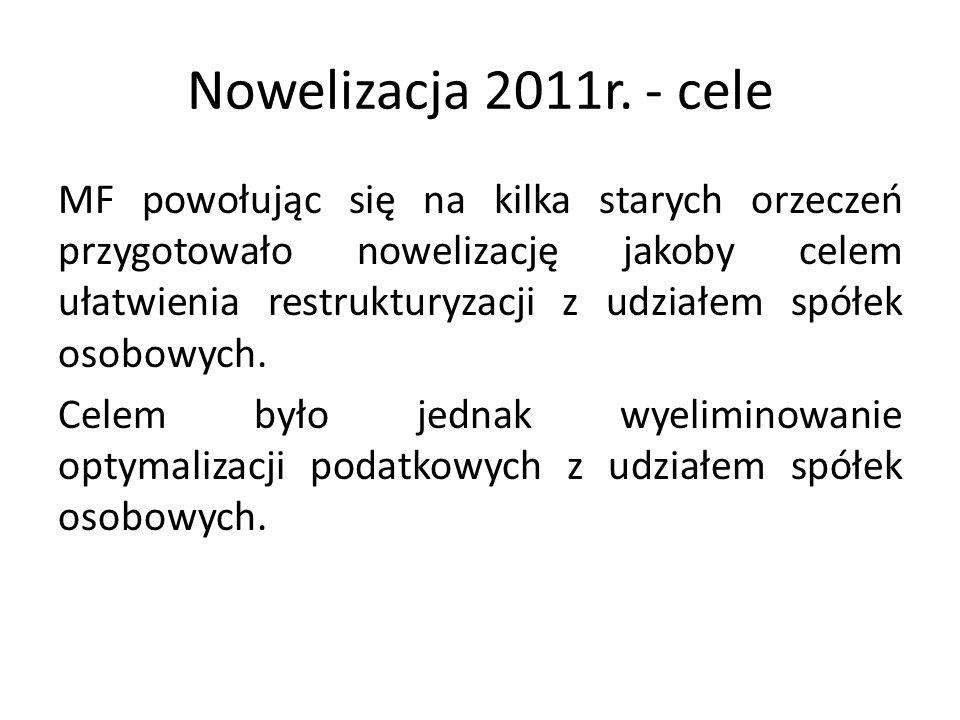 Nowelizacja 2011r. - cele