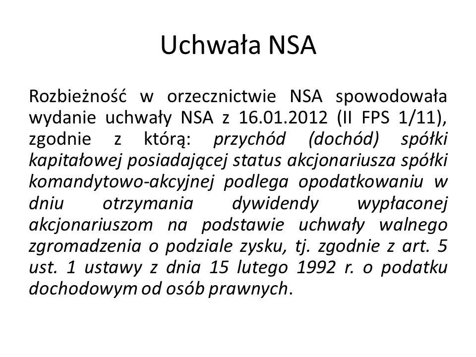 Uchwała NSA