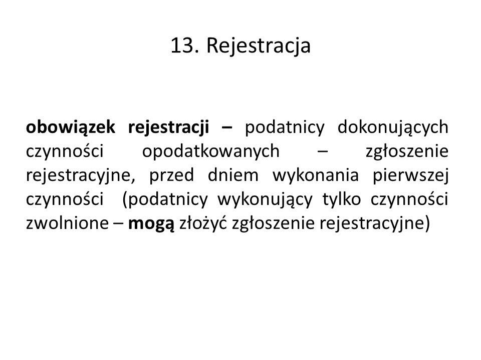 13. Rejestracja