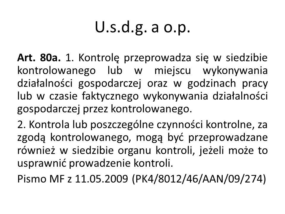 U.s.d.g. a o.p.