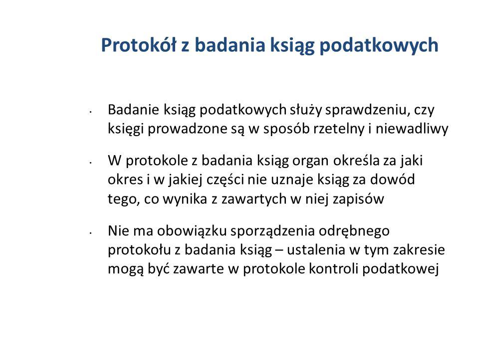 Protokół z badania ksiąg podatkowych
