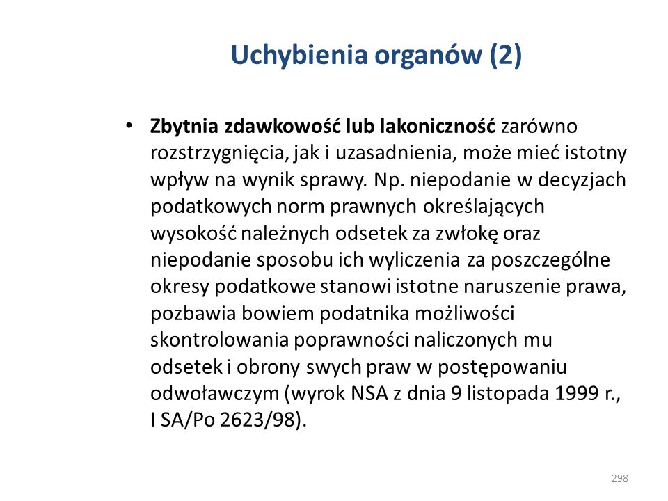 Uchybienia organów (2)
