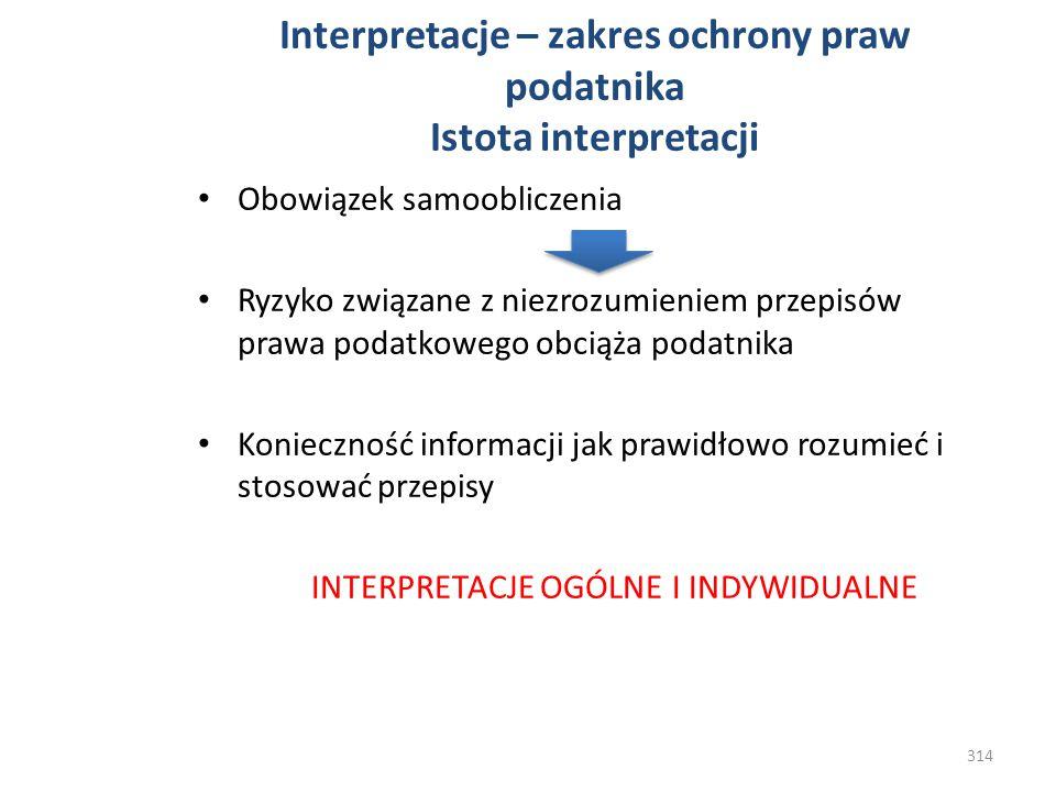 Interpretacje – zakres ochrony praw podatnika Istota interpretacji