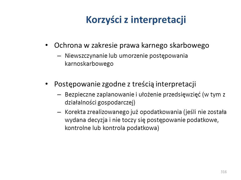 Korzyści z interpretacji