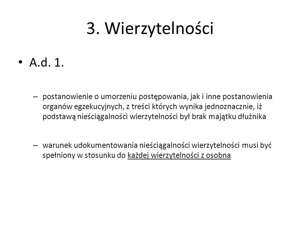 3. Wierzytelności A.d. 1.