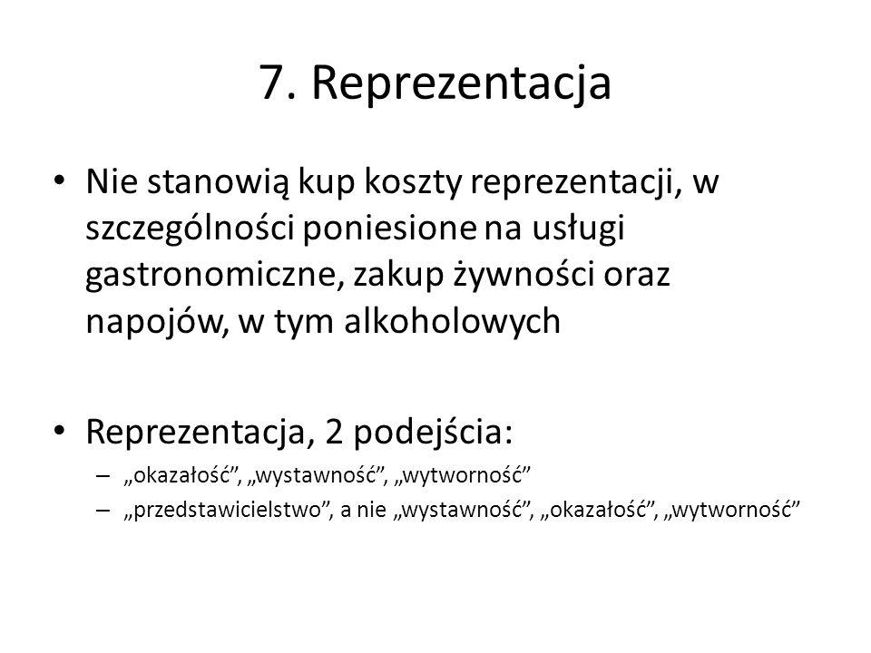 7. Reprezentacja