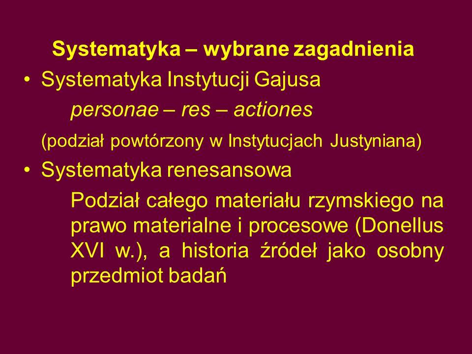 Systematyka – wybrane zagadnienia