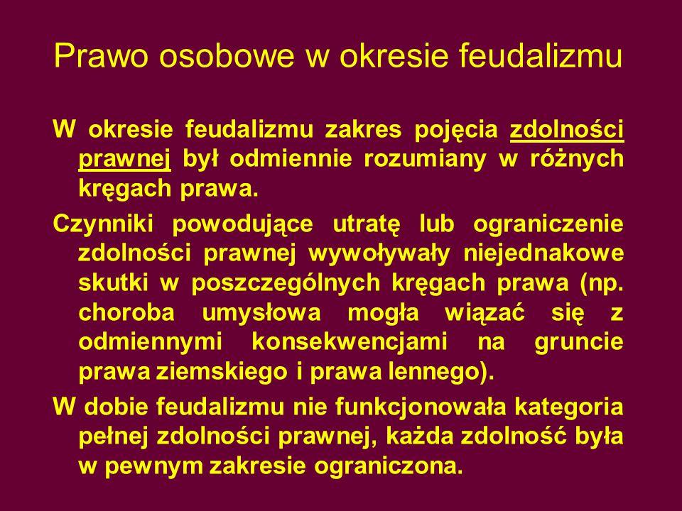 Prawo osobowe w okresie feudalizmu