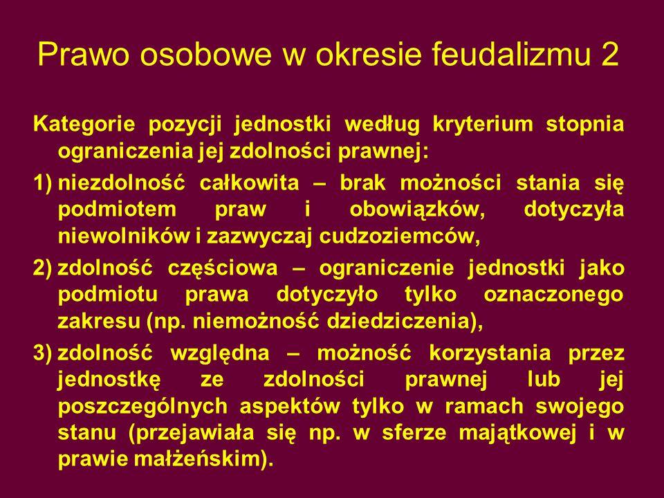 Prawo osobowe w okresie feudalizmu 2