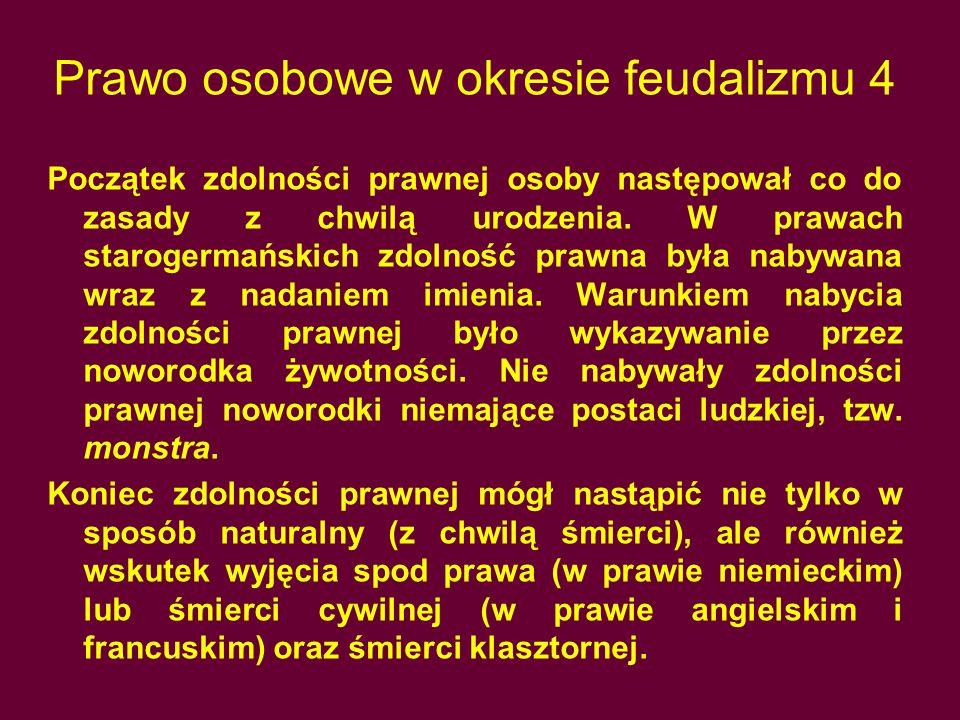 Prawo osobowe w okresie feudalizmu 4