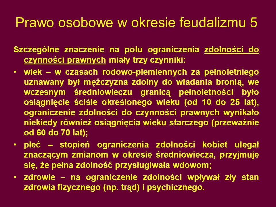 Prawo osobowe w okresie feudalizmu 5