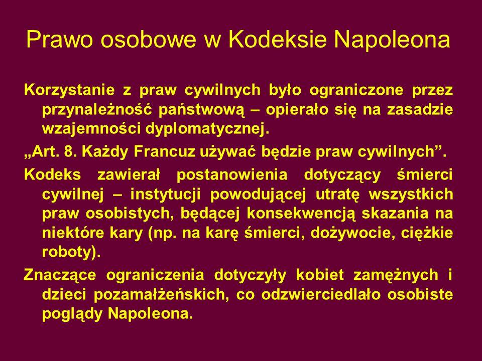 Prawo osobowe w Kodeksie Napoleona