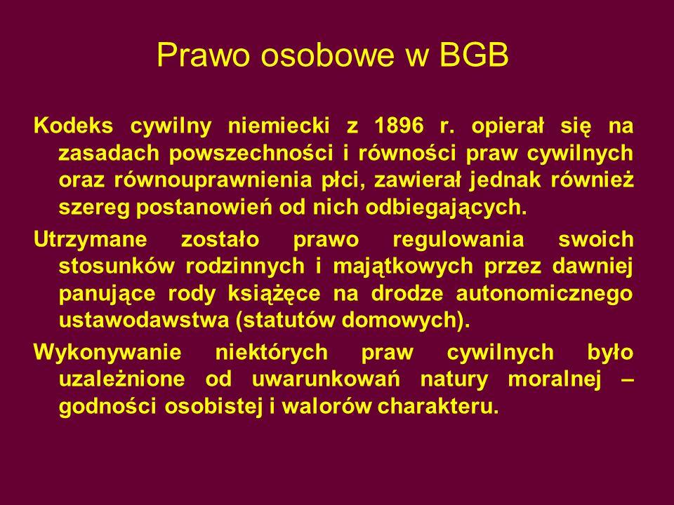 Prawo osobowe w BGB