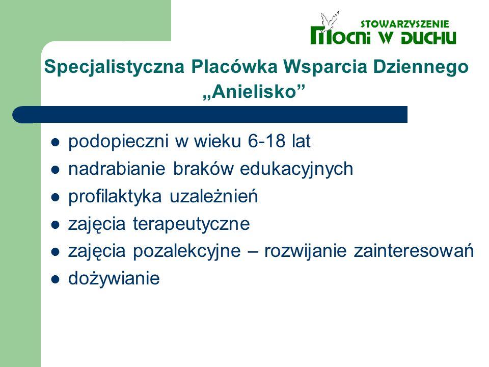 """Specjalistyczna Placówka Wsparcia Dziennego """"Anielisko"""
