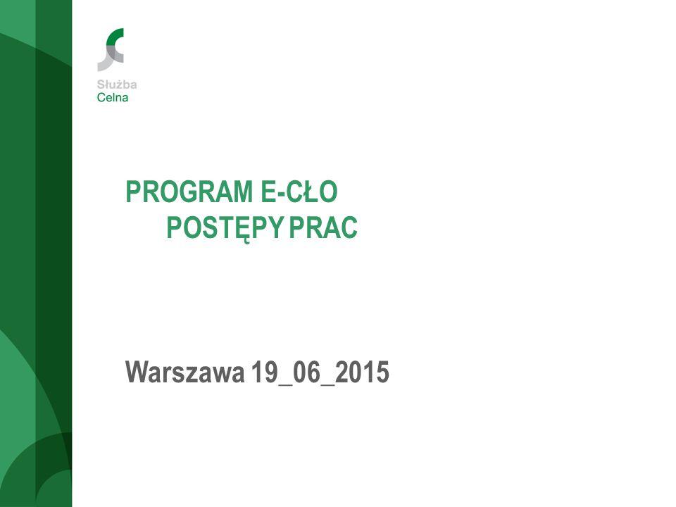 PROGRAM E-CŁO POSTĘPY PRAC Warszawa 19_06_2015