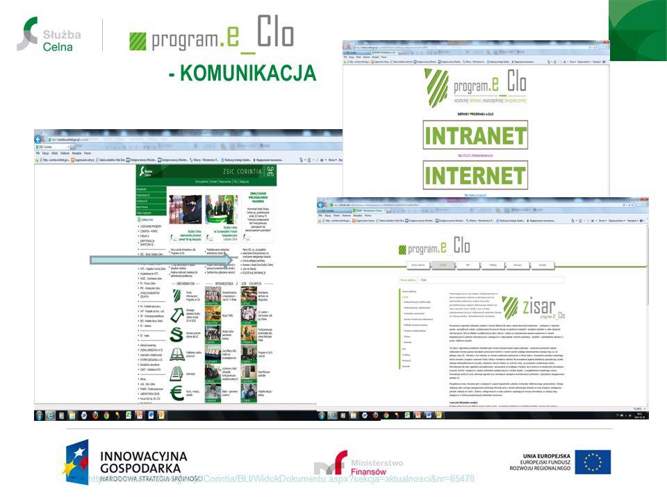 - KOMUNIKACJA http://corintia.mofnet.gov.pl/Corintia/BLI/WidokDokumentu.aspx sekcja=aktualnosci&nr=65478.