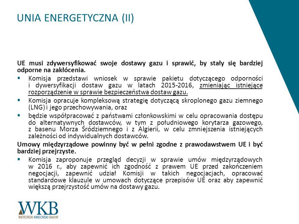 UNIA ENERGETYCZNA (II)