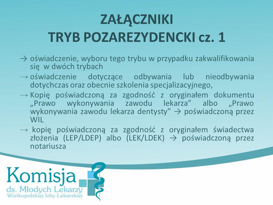 ZAŁĄCZNIKI TRYB POZAREZYDENCKI cz. 1
