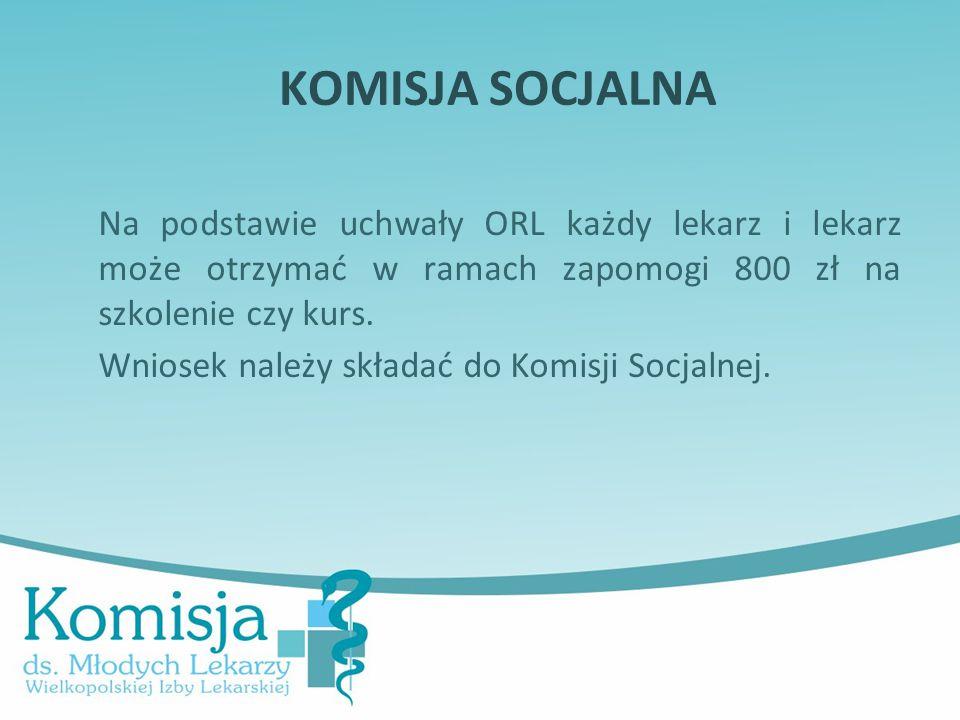 Kariera lekarza Lek. Marcin Żytkiewicz. KOMISJA SOCJALNA.