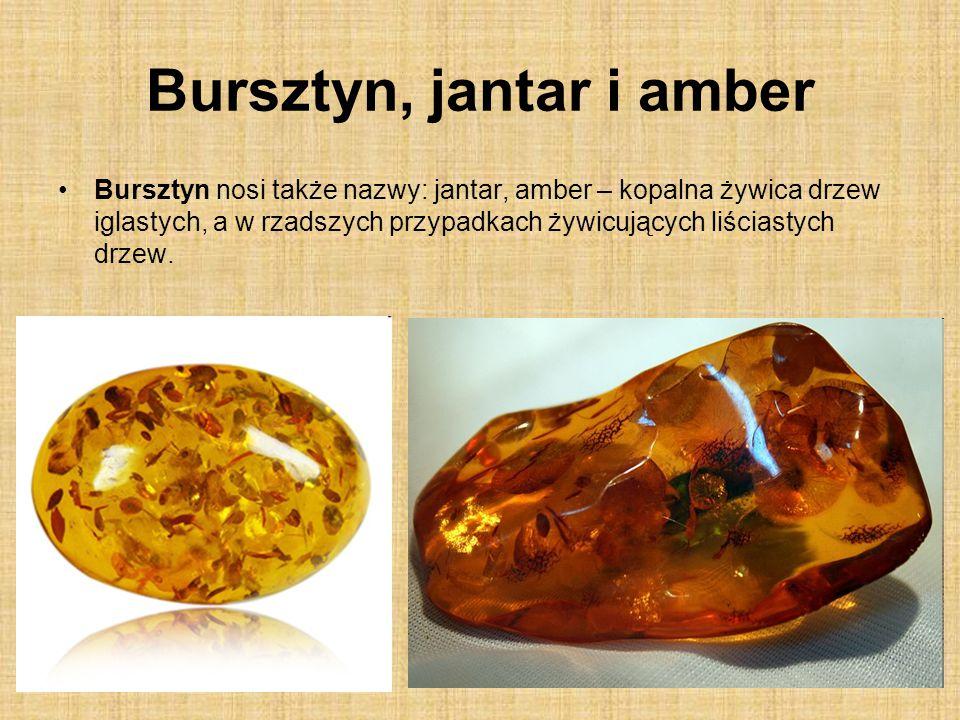 Bursztyn, jantar i amber