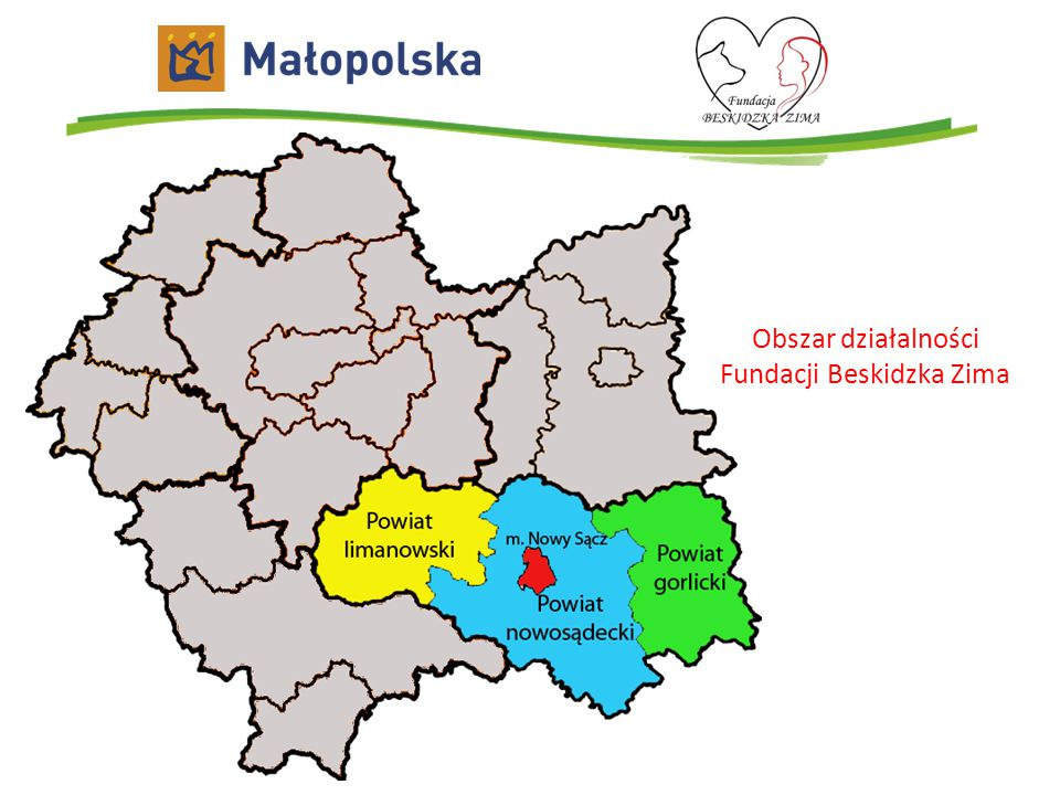 Obszar działalności Fundacji Beskidzka Zima