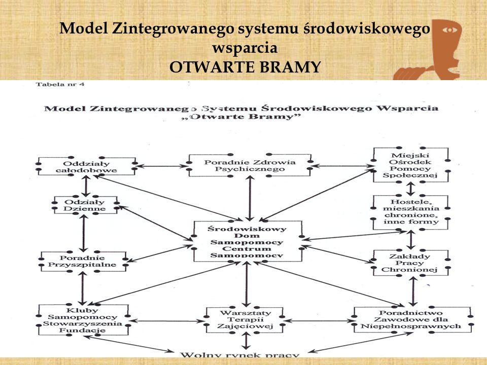 Model Zintegrowanego systemu środowiskowego wsparcia OTWARTE BRAMY