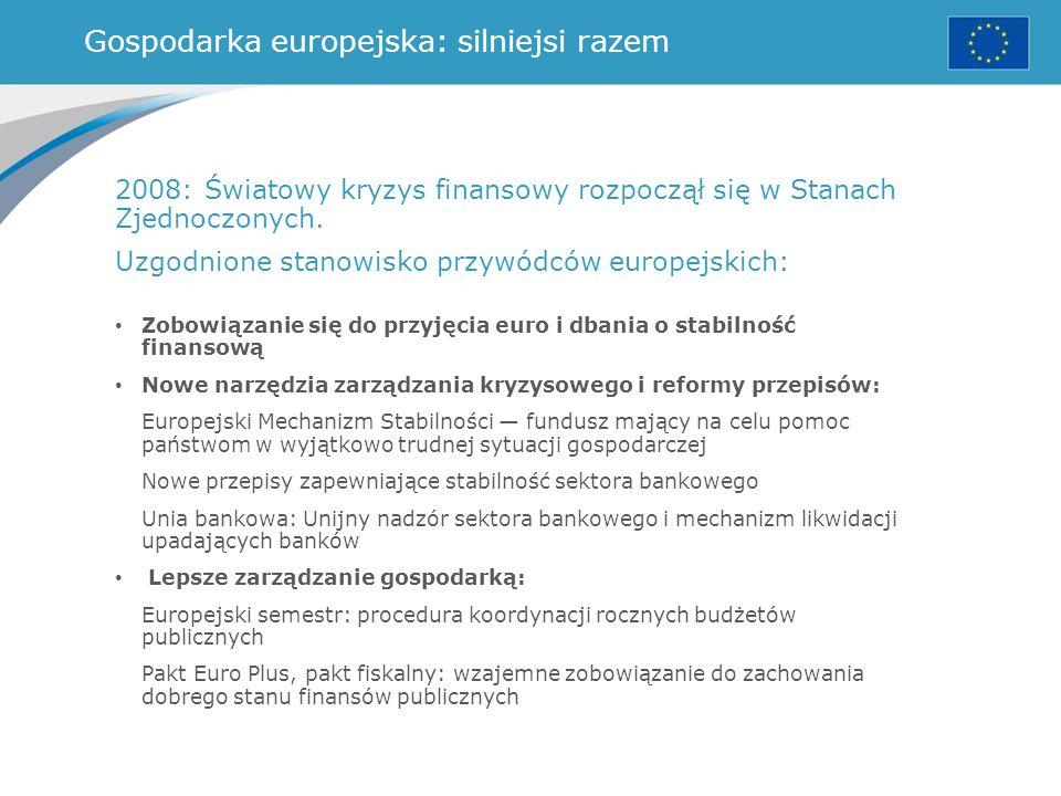 Gospodarka europejska: silniejsi razem
