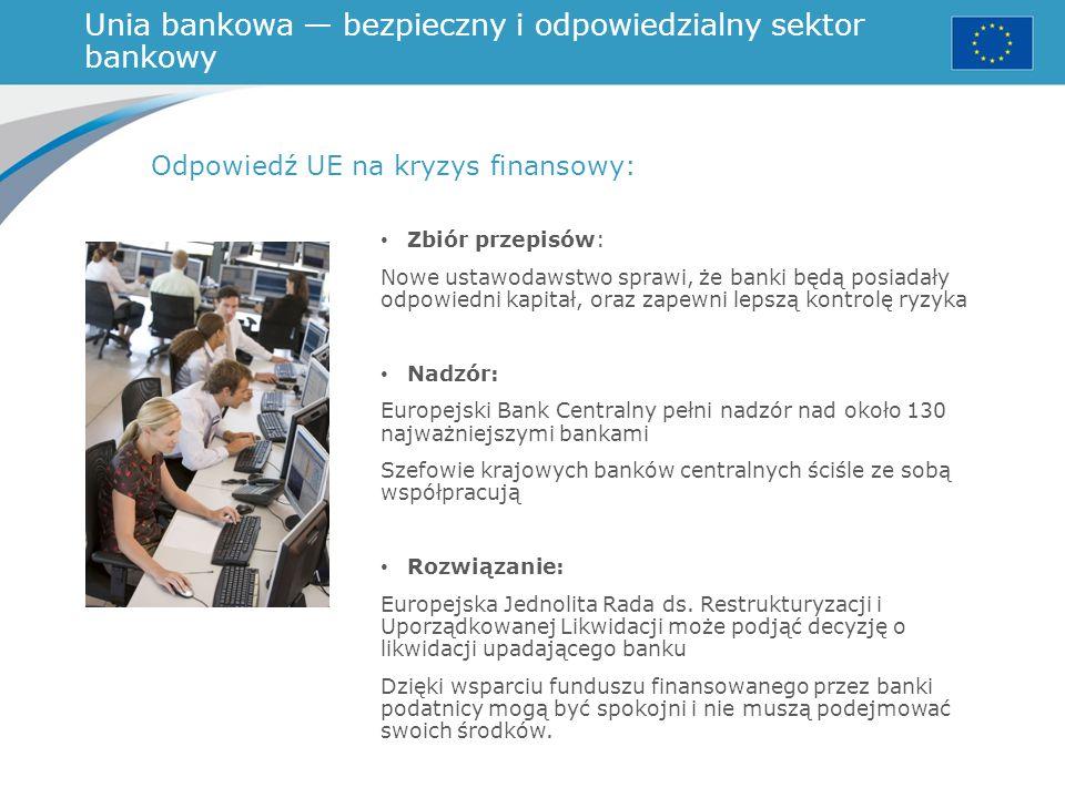 Unia bankowa — bezpieczny i odpowiedzialny sektor bankowy