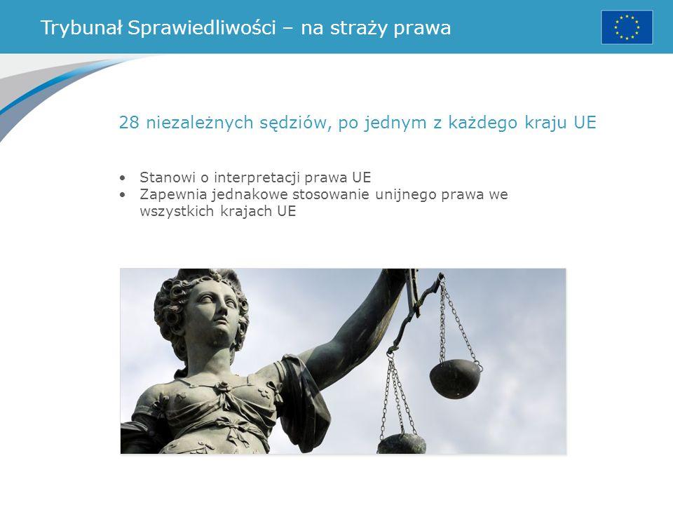 Trybunał Sprawiedliwości – na straży prawa