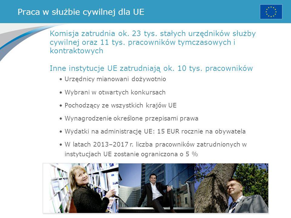 Praca w służbie cywilnej dla UE