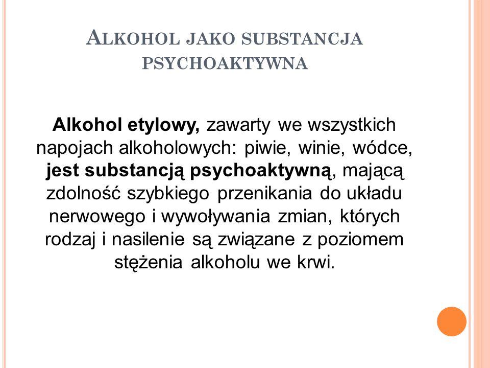 Alkohol jako substancja psychoaktywna