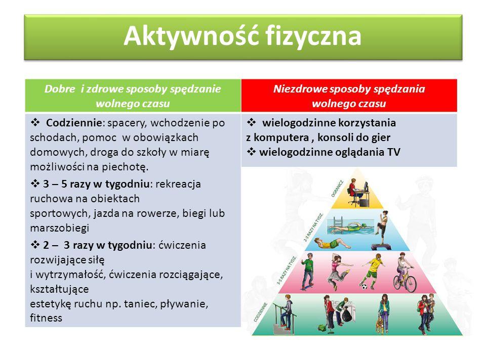 Aktywność fizyczna Dobre i zdrowe sposoby spędzanie wolnego czasu