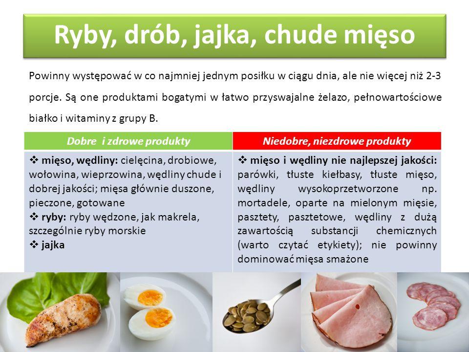 Ryby, drób, jajka, chude mięso