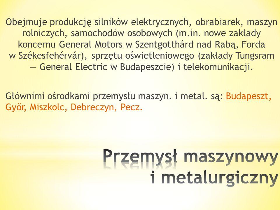 Przemysł maszynowy i metalurgiczny